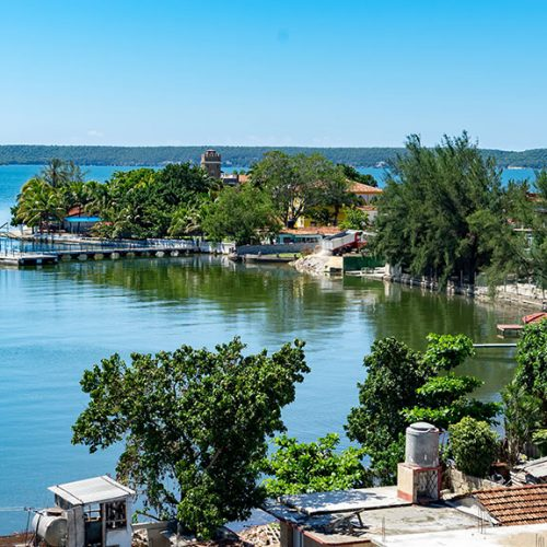 Cienfuegos town on the Caribbean Island of Cuba