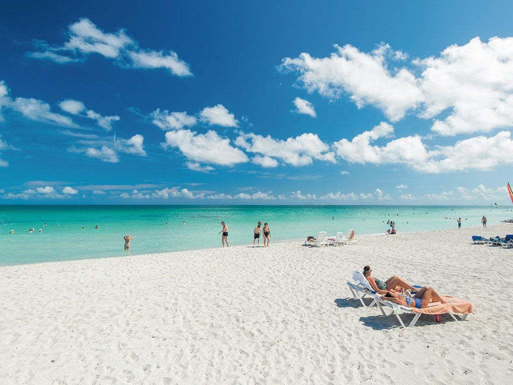 Segmento della spiaggia dell'hotel Grand Memories Varadero, Cuba